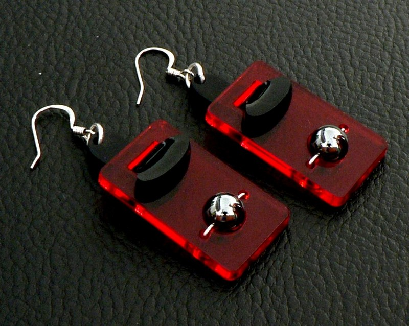 Boucles d'oreilles modulo rectangle
